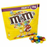 M&M's Mars Peanut Chocolate Nuts Sharing Party Pouch 1kg M&Ms MMs