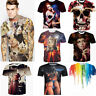 Mens 3D Print Summer Short Sleeve Casual Slim Fit T-Shirts Graphic Tee Shirt Top