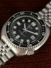 "BIG CUSHION VINTAGE SEIKO DIVER ""6309-7040"" MODIFIED - 6105 DIAL & HANDS 475713"