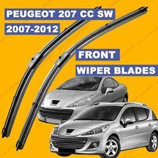 Side Pin Front set Wiper Blade For Peugeot 207 CC SW 07-12 57 58 59 till 62 reg