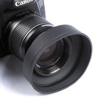 52mm 3-Stage Rubber Lens Hood For Canon Nikon Sony Pentax Olympus DSLR 52MM lens