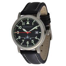 Unisex Armbanduhren im Flieger-Stil mit Armband aus echtem Leder
