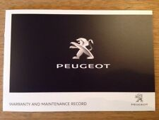 NEW PEUGEOT SERVICE HISTORY AND MAINTENANCE RECORD BOOK GENUINE NEW