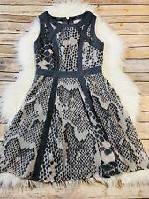 Banana Republic Gray and Blush Snake Skin Printed Sleeveless Flare dress Size 2P