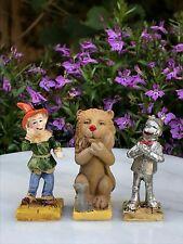 Miniature Dollhouse Fairy Garden ~ Wizard of Oz Set/ 3 Scarecrow, Lion & Tin Man
