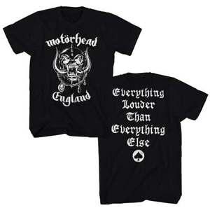 Motorhead England Men's Black T-Shirt Front Back Print Licensed Gildan S M L XL