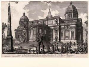 Giovanni Battista Piranesi View of the rear entrance Poster Giclee Canvas Print