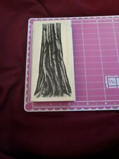 Stampscapes Mounted Rubber Wood Stamp 087F Tree Trunk 4.5x2 Nature 1993