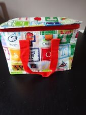 **ALPHABET BLOCK LETTERS INSULATED LUNCH BAG**