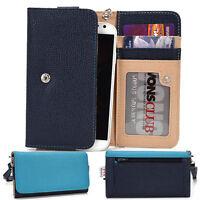Protective Wallet Case Clutch Cover & Organizer for Smart-Phones KroO ESMT23