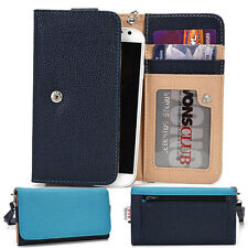 Protective Wallet Case Clutch Cover & Organizer for Smart-Phones KroO ESMT12