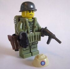 Lego Custom WW2 USA PARATROOPER Minifigure Brickforge Weapons Army Military