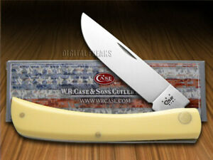 Case xx Sodbuster Knife Yellow Delrin Handle CV Steel Pocket Knives 00038