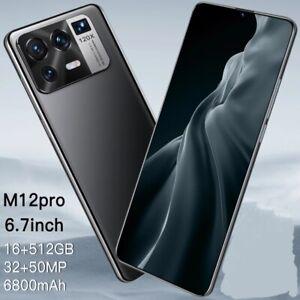 6.7 Inch Smartphone 5G Face Unlock 32MP+50MP 16GB+512GB 6800mAh Mobile phones