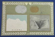 1906 Japanese Postcard Taiwan Lottery Ticket coin money vintage antique japan