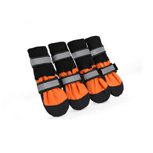 4pcs Pet Dog Shoes Waterproof Paw Cover Protectors Shoes Strap Anti-Slip Boots