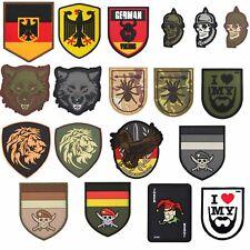 3D Rubber Patch BRD Special Forces Wolf Bart Löwe KSK Skull Deutschland Klett