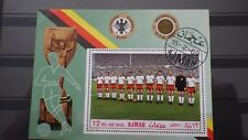 1x Bloc Sheet AJMAN Football Team Germany Perforated cachet 1969  MNH**