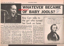 JULIE DRISCOLL Baby Jools 1971 UK ARTICLE / clipping