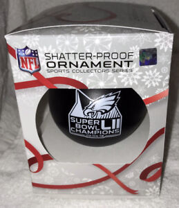 Philadelphia Eagles Super Bowl 52 LII CHAMPIONS CHAMPS ORNAMENT #3 SHATTER-PROOF