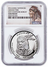2016 Native Silver Dollar NH Abenaki Bobcat 1 oz Silver NGC Gem Proof SKU52733
