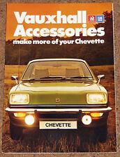 1978 VAUXHALL CHEVETTE accessori BROCHURE DI VENDITA