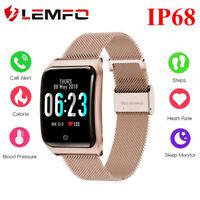 Lemfo F9 Reloj Inteligente IP68 Impermeable Monitor de sueño Para Android IOS
