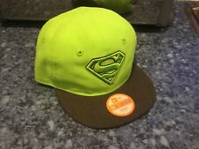New Era Snap Back Superman Neon Hat Baseball 9fifty Rare Infant Adjustable BNWT