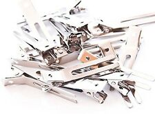 100 Double Prong Alligator Hair Clips/Barrettes. 1 3/4 in (45mm).