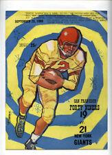 San Francisco 49ers v New York Giants **VTG** 1960 Program  Brodie Frank Gifford