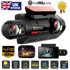 1080P Dual Lens Car DVR Front and Inside Camera Video Dash Cam Recorder G-sensor