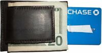 New Brown leather money Clip, Magnetic money clip. bills holder leather case NWT
