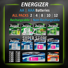 Energizer Batteries AA AAA 4 8 12 lot Rechargeable / Non-Rechargeable / Lithium