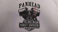 "Harley Davidson T-Shirt NEW NWT 5X 5XL XXXXXL ""Panhead"" White McGuire"