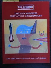 Catalogue Drouot Loudmer Art Moderne Abstrait Contemporain Oeuvres de Man Ray