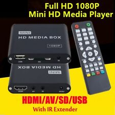 1080P HD TV Mini Media Player MKV Play any File from USB SD/SDHC Card Car Adapte