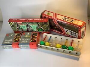 4 (20 bulbs) boxes Vintage bubble bulbs christmas