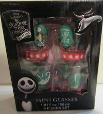 Nightmare before Christmas shot glasses / mini glasses sally - zero - jack - New