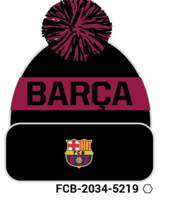 FC BARCELONA POM BEANIE/TOQUE OFFICIALLY LICENSED Fi COLLECTION