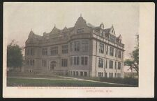Postcard APPLETON Wisconsin/WI  Lawrence University Hall of Science view 1906?