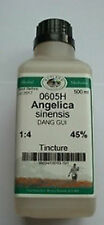 Dong Quai (Angelica sinensus) 1:4 Ratio - 500ml Tincture. Produced in UK.