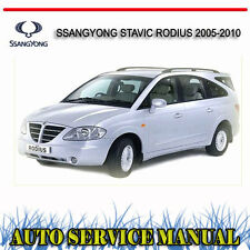 SSANGYONG STAVIC RODIUS 2005-2010 SERVICE REPAIR MANUAL ~ DVD