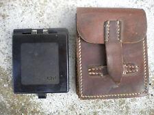 Boussole allemande WWII GERMAN WEHRMACHT DRP COMPASS KUHRT DRP + pochette cuir