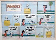 Peanuts by Charles Schulz - large half-page color Sunday comic - June 2, 1963
