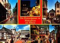 Die Drosselgasse zu Rüdesheim am Rhein , Ansichtskarte , ungelaufen