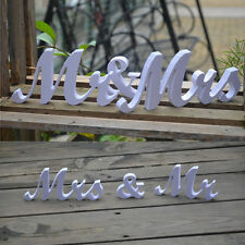 Mr&Mrs Wedding Reception Sign Solid PVC Letters Table Top Centrepiece Decor FGHB