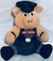 "Harley Davidson Plush stuffed motorcycle PIG HOG T-shirt cap 10"""