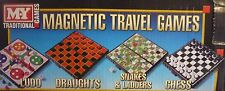 Magnetic Mini Travel Board Games Chess, Draughts, Snake & Ladders or Ludo