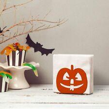 Pumpkin Jack-O-Lantern Design Orange Metal Tabletop Napkin Holder, Halloween