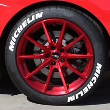 "TIRE STICKERS - MICHELIN - 1.25"" For 14"" 15"" 16"" Wheels (8 decals)"